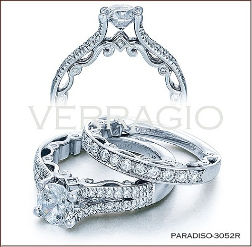 PARADISO-3052R from the Paradiso Collection, featuring the exclusive Lumino Set center with 0.40Cts of round & princess cut diamonds.The Paradiso Collection was specifically designed with the wearer's comfort in mind. Engagement rings and wedding bands within the collection hug the contours of your finger to create the perfect fit and prevent the ring from spinning on your finger.