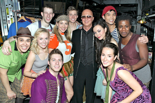 Paul Shaffer and the cast of Godspell