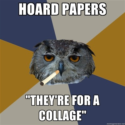 fyeahartstudentowl:  just spent an evening covering cardboard in gum wrappers.  GUILTY. I'm especially suceptible to shimery cardstock. Keep meaning to package and sell on etsy. Keeps not happening.  So if anyone wants shimmery scrap paper holler at me. $$ is welcome.