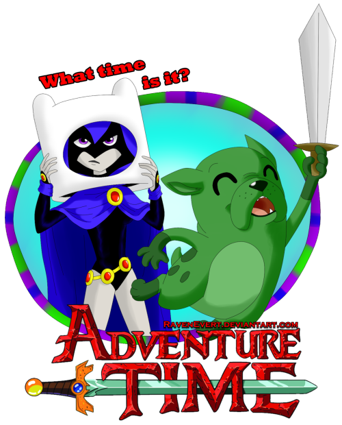 Raven and Beast Boy - Adventure Time by ~RavenEvert