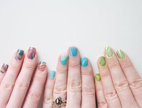 Have you been keeping up with ModCloth's Nail Klub? Check out how ModEmployee Anna achieved this marvelous marbled look on the ModCloth blog!