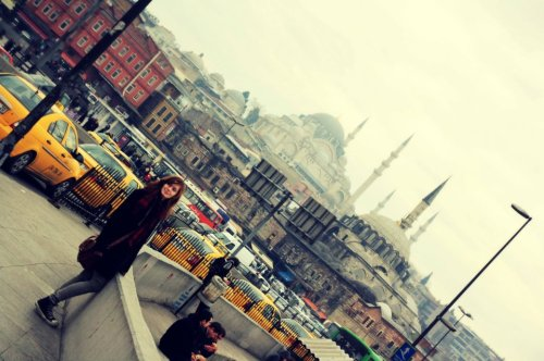Me in Istanbul, picture taken by a friend :)