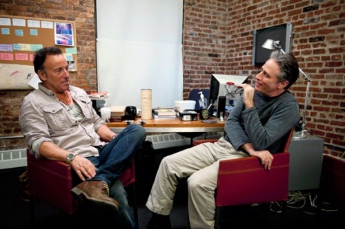 Jon Stewart Interviews Bruce Springsteen for Rolling Stone: 'The Daily Show' host goes in-depth with the rocker about music and politics *swoon*