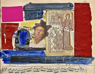 Minne 175 by web.werkraum on Flickr.K.S., 2012, Collage im Notenheft, 17x22,5 cm