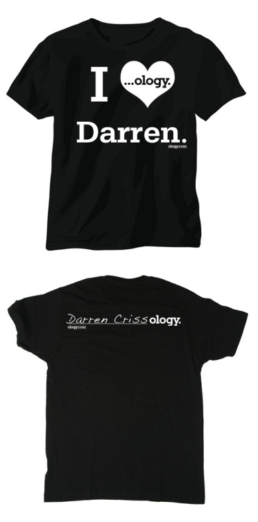 Want this shirt? All you have to do is participate in Ology's Hottest Male Actor contest. If Darren wins, the 20 most active members, the ones who make the most posts, will win these shirts.  Keep in mind the DCST is also sponsoring a giveaway of a signed How to Succeed playbill to ONE Ology member as soon as we reach 500 members! Current rankings: Contest Ranking for 3/7/12: 1st) Tom Felton 1478 Points 2nd) Darren Criss 1457 Points 3rd) Ian Harding 193 Points 4th) Munro Chambers 55 Points 5th) Zac Efron 32 Points 6th) Ian Somerhalder 30 Points 7th) Robert Pattinson 25 Points 8th) Liam Hemsworth 15 Points