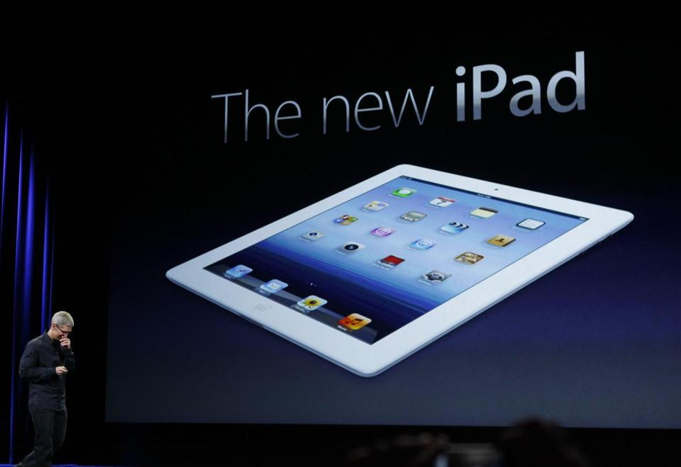 Apple unveils new iPad  - In the first unveiling of new hardware since co-founder Steve Jobs died in October, Apple CEO Tim Cook showed off a newer, faster iPad with a sharper display.