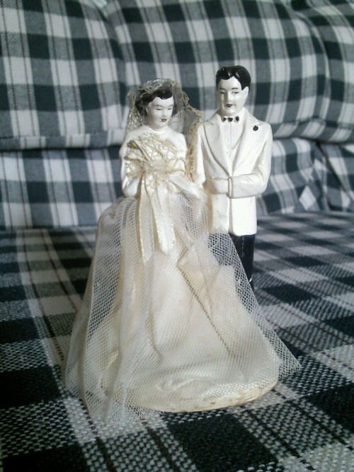 This was the topper for my grandparents wedding cake over sixty years ago.