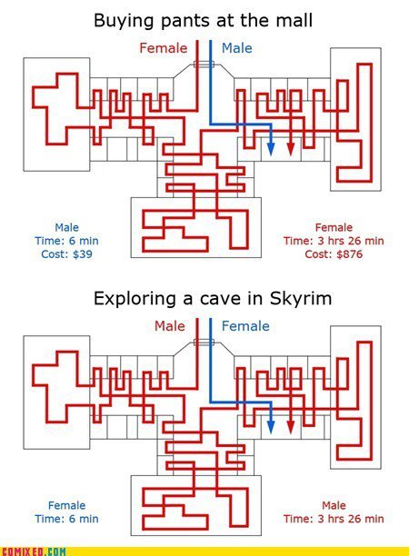 ircimages:  Women and Skyrim.