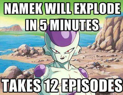 And it took 24 episodes just to charge an attack… sawhimstandingthere:  DBZ LOGIC.