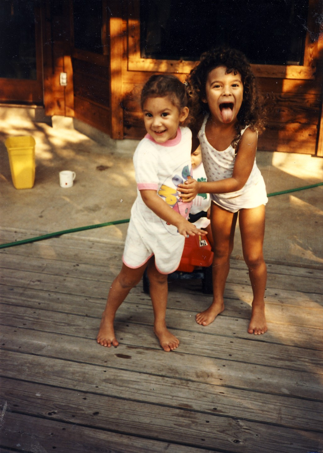 "Me and my sister, back in the day. Guess which one is me? (Also, this photo is technically ""vintage"", I think, which is dizzying…) (Also also more art coming soon. I've been a busy girl lately!)"