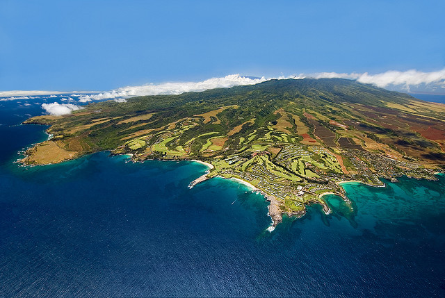 travelingcolors:  Aerial view of Maui and Kapalua Resort by kapaluaresort on Flickr via onceuponawildflower
