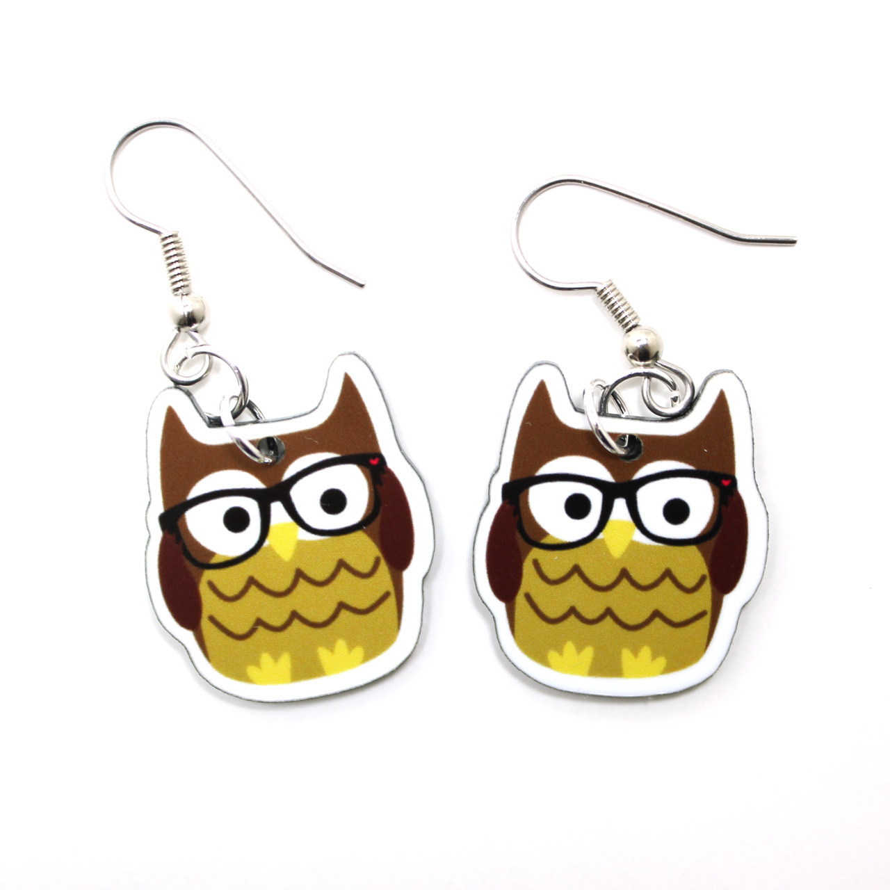 New in the shop: Nerdy Owl Earrings