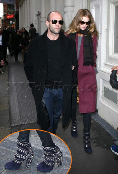 Hell Yeah girl, rock those boots!!! Jason Statham and Rosie Huntington-Whitley