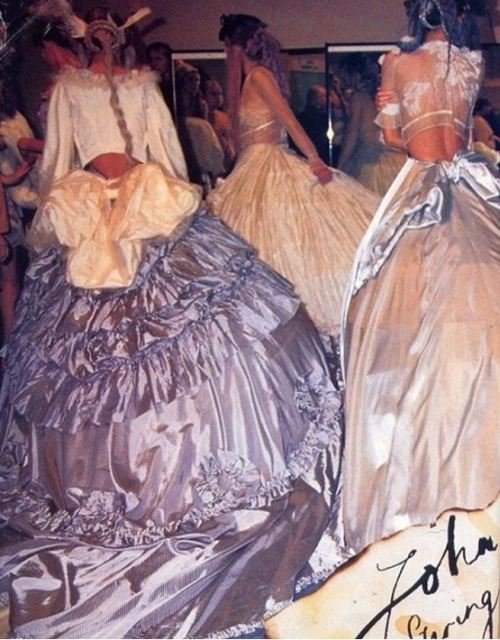 Kate Moss backstage @ John Galliano SS 1994