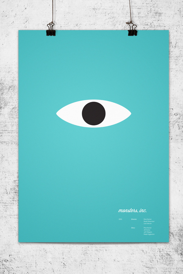 Minimalist Movie Posters - Monsters Inc.
