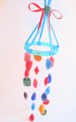 handmade glass mobile- rainbow!