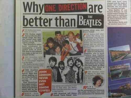 acelili:  Really ? One Direction are better than the Beatles ? You can not even compare the two! The Beatles were arguably the best band ever! One Direction aren't even the best band from X Factor!  Please reblog if think that The Beatles are better than One Direction!