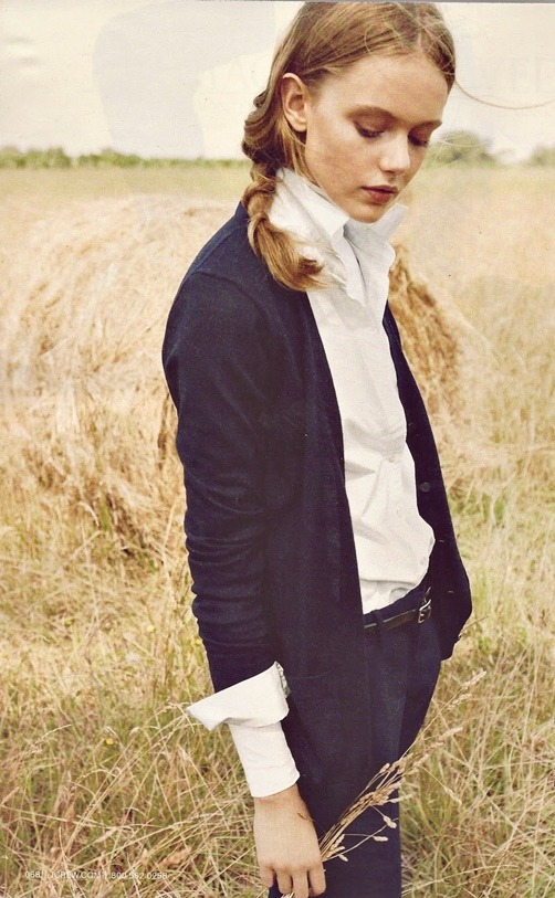 coco-cocoon:  Frida G. in J.CREW NOVEMBER 2011 CATALOGUE