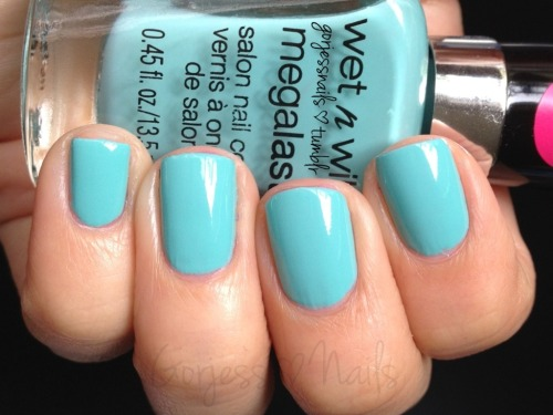 My fave color right now!! Wet n Wild- I Need A Refresh-Mint.