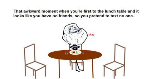 Lol never waiting for any friends but still pretend to text