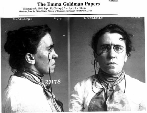Tattoo idea 1. Emma Goldman's mugshot.