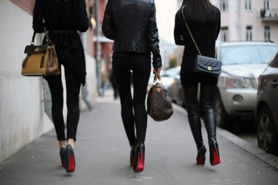 Line of Louboutins.