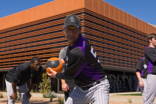 Jamie Moyer continues to chase his MLB dream, attempting a comeback at age 49 after missing all of the 2011 season due to major elbow surgery. It's a story of baseball — family. (Photo by Dave Cruz). http://nbcsports.msnbc.com/id/46644838/ns/sports-baseball/