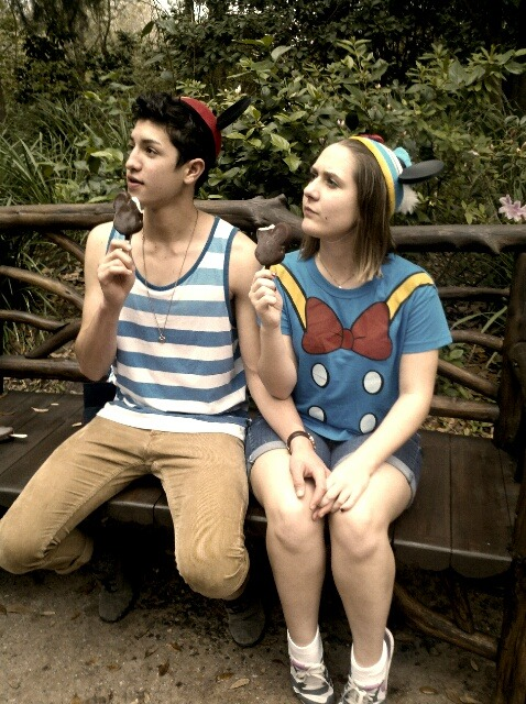 Eating ice cream in Animal Kingdom :)