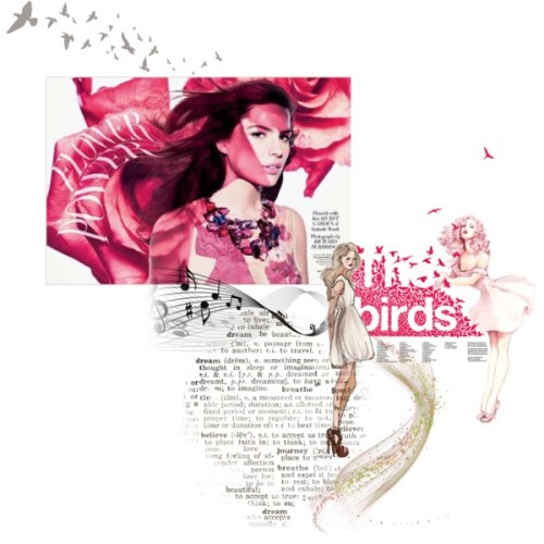 The birds by fiona-doubleday on polyvore.comflying birds wall stickers by spin collective | notonthehighstreet.com, £38