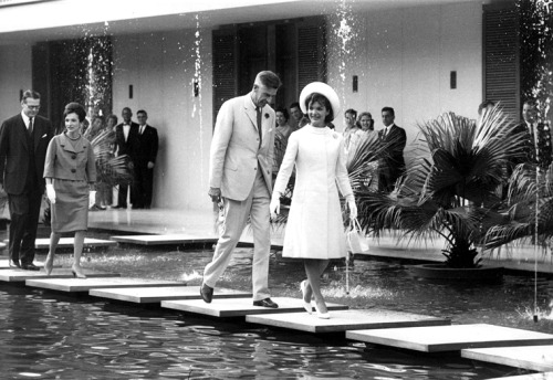 Jacqueline Kennedy in New Delhi, India First Lady Jacqueline Kennedy with American Ambassador to India John Kenneth Galbraith at the U. S. Chancery, New Delhi. 3/12/12