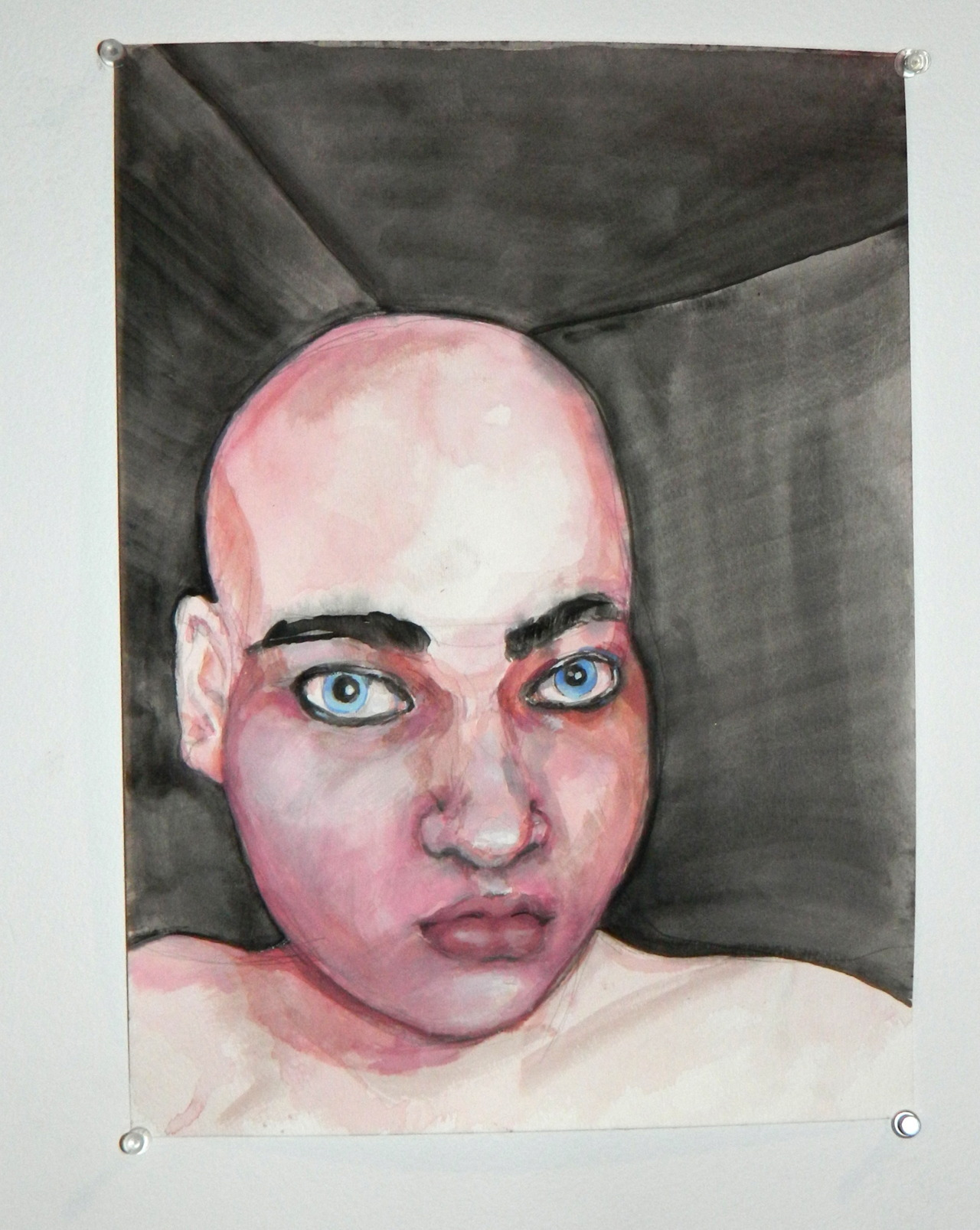 Pinkboy in the Maze, 2012, watercolor on paper
