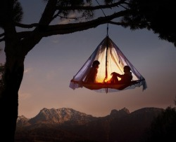 oliphillips:  Extreme Camping Hanging tent 6,562 feet in the air at Waldseilgarten