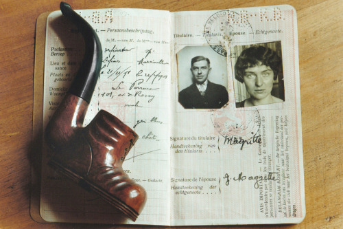 Magritte's passport and whimsical pipe