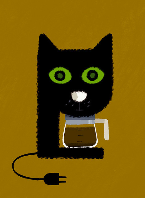 percolator  purr-colator  illustration by Vincent Mathy :: via flickr.com