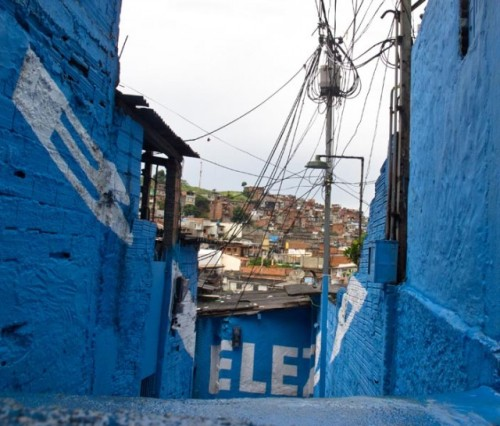 laughingsquid:  Light in the Alleyways, Positive Word Murals for a Brazil Shanty Town