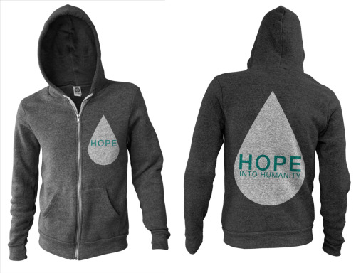 These items are now up on our NON-PROFIT MERCH STORE (http://www.hopeintohumanity.bigcartel.com)  **All of the proceeds go towards THE WATER CAUSE**