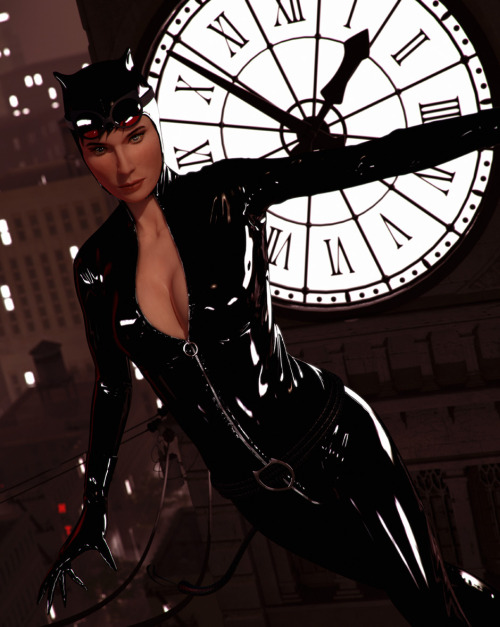 I'm a big fan of Adam Hughes interpretation of DC Comics' Catwoman, so I decided to create this tribute to the character in 3D. I really love the fifties style in this version of the character and feel this is what the real Catwoman should look and be like. If Adam Hughes sees this one day, I hope he approves.  I modeled almost everything in Zbrush and did the rendering in 3ds Max using Mental Ray.
