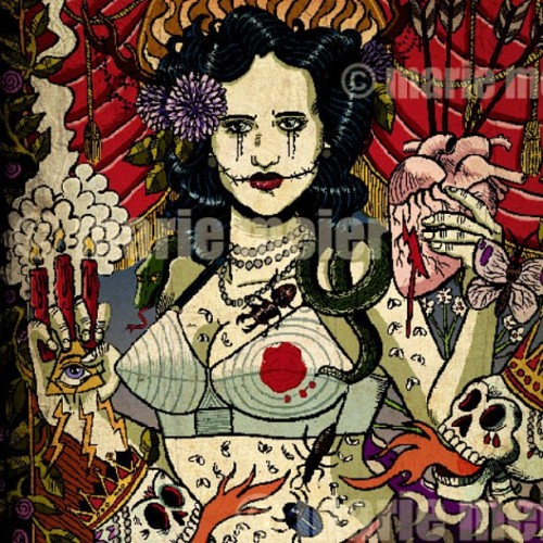 New #print Black Dahlia #tribute #blackdahlia #bettyshort #gicleeprint #skull #hommage #tattoo #pinup #40s #coldcase #mystery #murder #meurtre #jamesellroy #losangeles #mystery #myth available at mariemeier.storenvy.com (Taken with Instagram at http://mariemeier.storenvy.com/products/283020-black-dahlia)