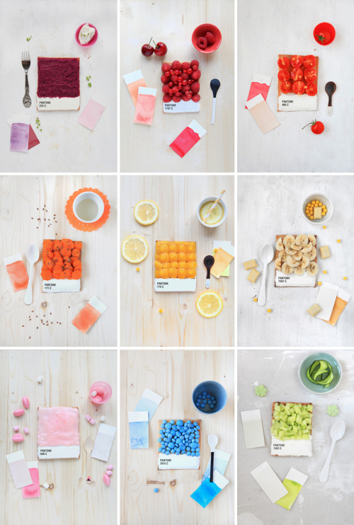 Pantone Tarts by Emilie de Griottes (Source: Design Boom via ummhello)