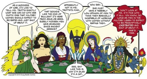 unfriendlyatheist:  The goddesses of old discuss American politics over a leisurely poker game.