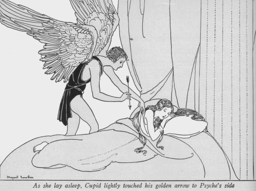 "fairytalemood:  ""Cupid and Psyche"" by Margaret Evans Price"