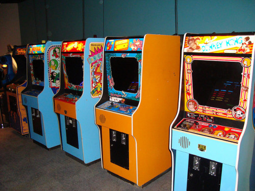 Vintage arcade games at Strong Museum by tgtsfkncld on Flickr.