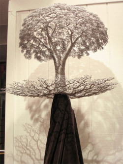 Pretty cool trees made out of wire by Kevin Iris. More here.