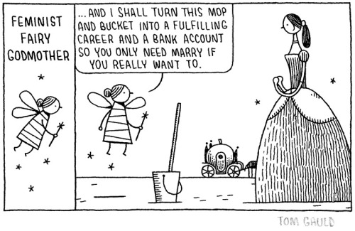 shadesofbrixton:  Feminist Fairy Godmother by Tom Gauld.  I feel like we must obviously be getting closer to election day now that this is my post with the highest number of notes.