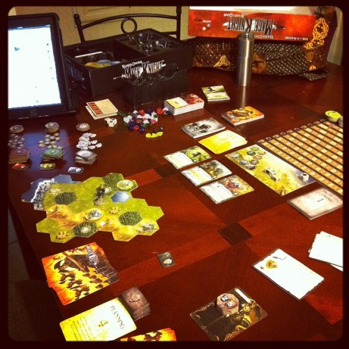 Learning Mage Knight (or trying to… This is haaaaaaard) #boardgame #gamenight  (Taken with instagram)