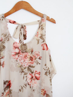 New at Mickey's Girl- Floral Fishtail Dress