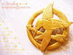 Mockingjay pin from Hunger Games! :) www.facebook.com/thoughtofyoushop