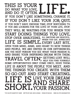The Holstee Manifesto Download a print for free here