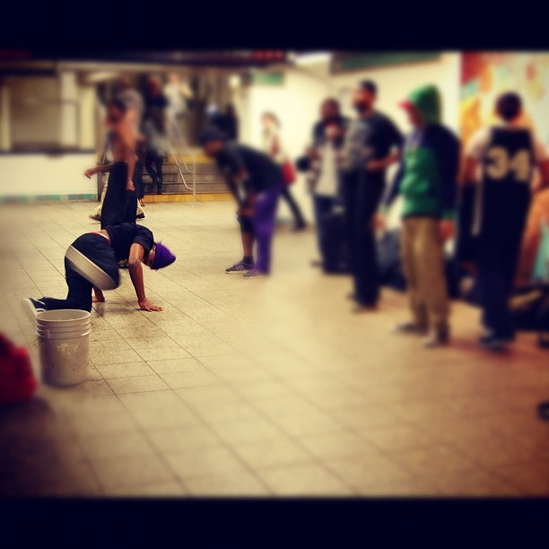 NY subway station at its best …