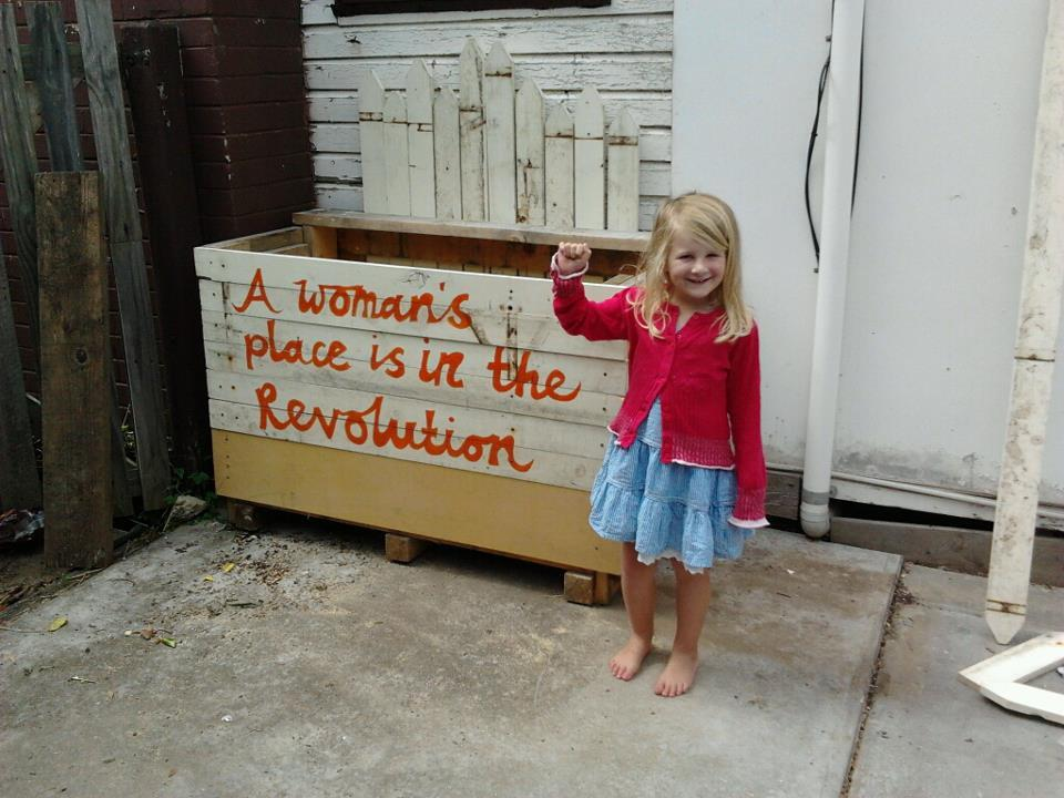clementineford:  radicalxstitch:  Today we made a revolutionary raspberry garden bed. Happy International Women's Day xx  Fuck yeah it is.